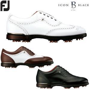 フットジョイ FJ アイコン ブラック ゴルフシューズ メンズ ICON BLACK|g-zone