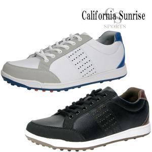 カリフォルニアサンライズ スパイクレス ゴルフシューズ メンズ CSSH-3611 California Sunrise|g-zone