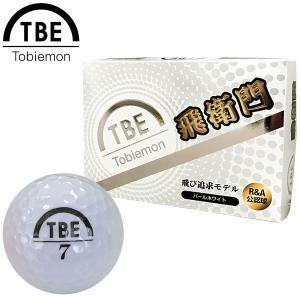 TOBIEMON 飛衛門 とびえもん ゴルフボール パール 2ピースボール 1ダース 12球入 ホワイト 公認球|g-zone
