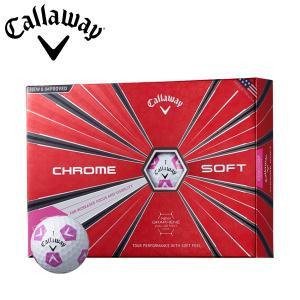 数量限定モデル キャロウェイ ゴルフ クロムソフト トゥルービス ピンク ゴルフボール 1ダース 12P 2018年モデル|g-zone