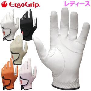 4点までメール便対応 エルゴグリップ 天然皮革 レディース ゴルフグローブ EGO-1802-W ErgoGrip|g-zone