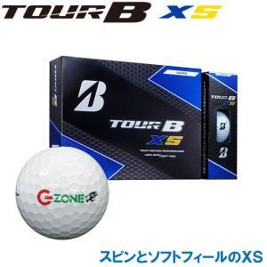 ブリヂストンゴルフ TOUR B XS ゴルフボール 1ダース 12p GZONEロゴ入り ツアービー エックスエス 2017|g-zone