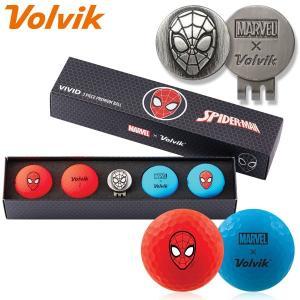 数量限定 マーベル×ボルビック ビビッド スパイダーマン ゴルフボール 4球+マーカーセット Volvik ヴォルビック USAモデル|g-zone