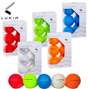 ルキア ゴルフ ネオンカラー 超高反発ゴルフボール 半ダース (6P) 非公認球 LK304B マット蛍光カラー|g-zone