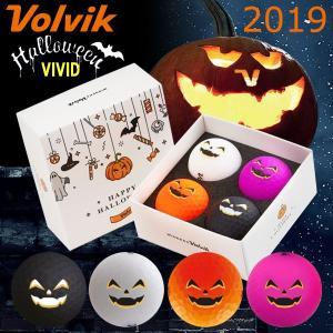 【数量限定】 2019 ボルビック ビビッド ハロウィン パッケージ ゴルフボール 4球セット Volvik ヴォルビック|g-zone