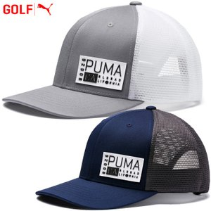 ○プーマ ゴルフ CA トラッカー スナップバック キャップ 帽子 022029 2019年春夏|g-zone