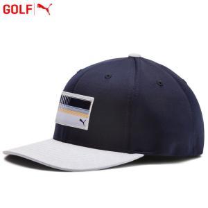 プーマ ゴルフウェア ユーティリティ パッチ 110 スナップバック キャップ 帽子 022137 2019春夏|g-zone