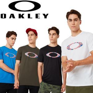 オークリー スポーツ ライフスタイル ELLIPSE USA PATTERN TEE ショートスリーブTシャツ 457886 2019 秋冬|g-zone