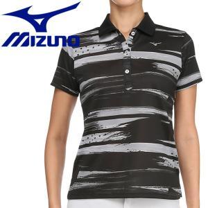 ミズノ ゴルフ グラフィック半袖ポロシャツ レディース 52MA920109|g-zone