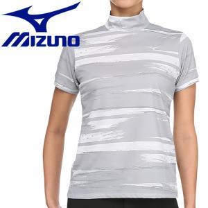 ミズノ ゴルフ グラフィック半袖ハイネックシャツ レディース 52MA920603|g-zone