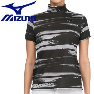 ミズノ ゴルフ グラフィック半袖ハイネックシャツ レディース 52MA920609|g-zone