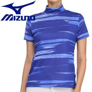 ミズノ ゴルフ グラフィック半袖ハイネックシャツ レディース 52MA920625|g-zone