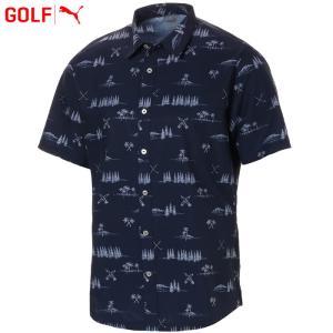 プーマ ゴルフウェア メンズ パラダイス シャツ 579313 2019春夏|g-zone