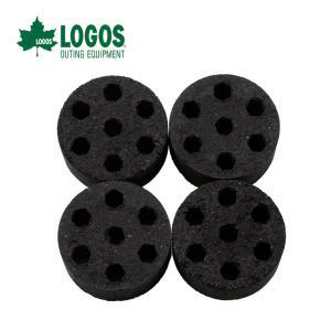 LOGOS ロゴス エコココロゴス・ミニラウンドストーブ4個入り 83100104 成型炭 p-up...