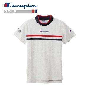 チャンピオン ゴルフウェア モックネック 半袖Tシャツ CW-PG301-070 レディース 2019春夏|g-zone