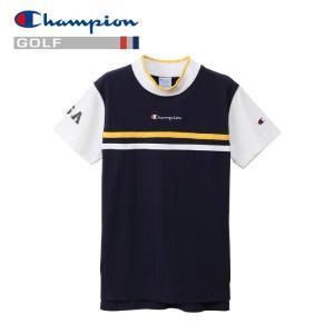チャンピオン ゴルフウェア モックネック 半袖Tシャツ CW-PG301-370 レディース 2019春夏|g-zone