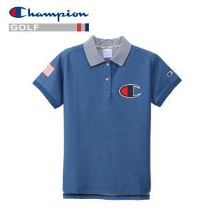 チャンピオン ゴルフウェア モックネック 半袖Tシャツ CW-PG304-326 レディース 2019春夏|g-zone
