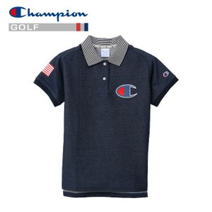 チャンピオン ゴルフウェア モックネック 半袖Tシャツ CW-PG304-330 レディース 2019春夏|g-zone