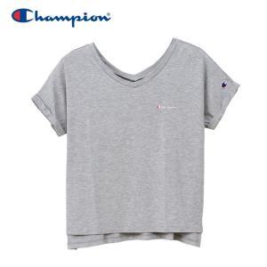 チャンピオン VネックスリットTシャツ アクティブスタイル CW-PS304-070 19SS|g-zone