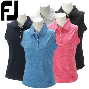 フットジョイ ゴルフウェア レディース ノースリーブシャツ FJW-S17-S07 春夏 19sbn|g-zone