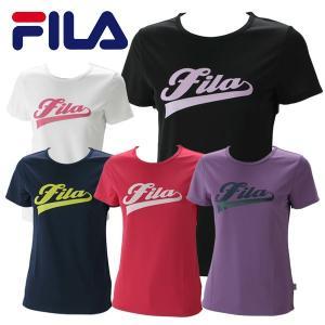 フィラ プリントTシャツ(ロゴ:ラメ入り) レディース FL9838|g-zone