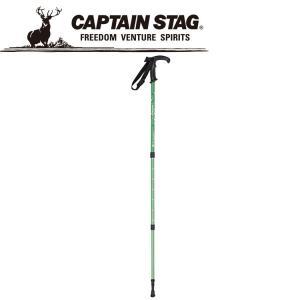 キャプテンスタッグ トレッキングステッキTグリップGNドット M9853 CAPTAIN STAG|g-zone