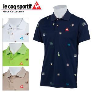 ルコックゴルフ クーリスト鹿の子半袖ポロシャツ メンズ 春夏 ゴルフウェア QGMPJA20