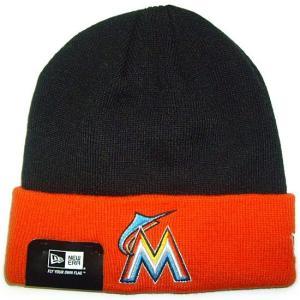 NEW ERA (ニューエラ) MLB ベーシック ニットキャップ (マイアミ・マーリンズ)|g2sports