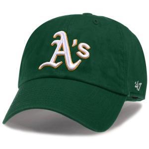 '47 Brand MLB カジュアルキャップ (CLEAN UP CAP/クリーンナップ キャップ) オークランド・アスレチックス|g2sports