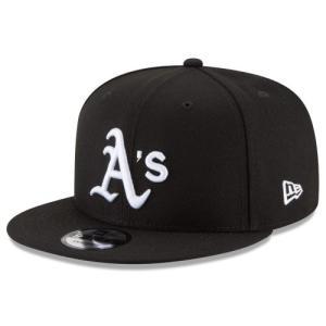 NEW ERA (ニューエラ) MLBフラットバイザー/スナップバックキャップ (9FIFTY 950 CAP) オークランド・アスレチックス ※ブラックバージョン|g2sports