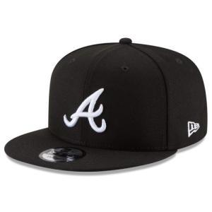 NEW ERA (ニューエラ) MLBフラットバイザー/スナップバックキャップ (9FIFTY 950 CAP) アトランタ・ブレーブス ※ブラックバージョン|g2sports