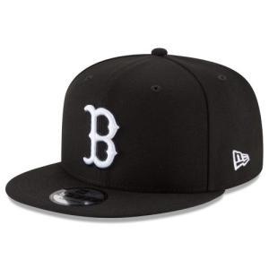 NEW ERA (ニューエラ) MLBフラットバイザー/スナップバックキャップ (9FIFTY 950 CAP) ボストン・レッドソックス ※ブラックバージョン|g2sports