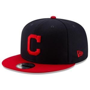NEW ERA (ニューエラ) MLBフラットバイザー/スナップバックキャップ (9FIFTY 950 CAP) クリーブランド・インディアンズ|g2sports