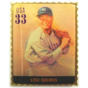 ルー・ゲーリッグ クラッシックスタンプ MLB ピンバッチ(ピン)|g2sports