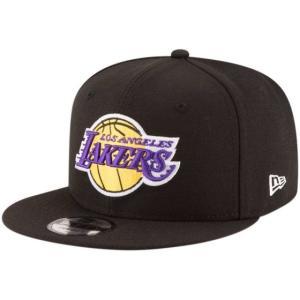 NEW ERA (ニューエラ) NBAフラットバイザー/スナップバックキャップ (9FIFTY 950 CAP) ロサンゼルス・レイカーズ ※ブラックバージョン|g2sports