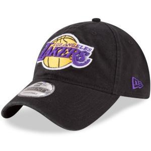 NEW ERA (ニューエラ) NBAカジュアルキャップ (9TWENTY 920 NBA CAP) ロサンゼルス・レイカーズ ※ブラックバージョン|g2sports