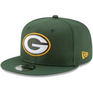 NEW ERA (ニューエラ) NFLフラットバイザー/スナップバックキャップ (9FIFTY 950 CAP) グリーンベイ・パッカーズ|g2sports