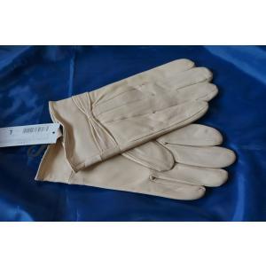 TBC-003 本革 高級ラム革 レディース 手袋 ベージュ