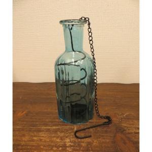 キャンドルホルダー Luminous Glass ヨーロピアン 北欧 ルミナスグラス ハンギング ブルー|gacha-com