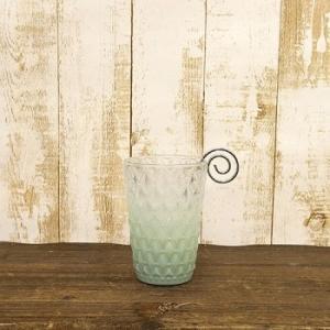 キャンドルホルダー L Luminous Glass ヨーロピアン 北欧 ルミナス グラス グリーン|gacha-com
