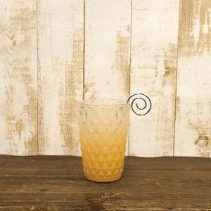 キャンドルホルダー L Luminous Glass ヨーロピアン 北欧 ルミナス グラス オレンジ|gacha-com