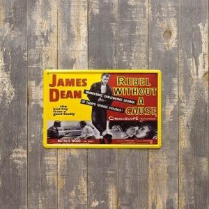 アンティーク メタルプレート  (S)  JAMES DEAN|gacha-com