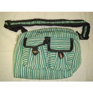 ショルダーバッグ ショルダーバック ネパール製  ストライプ織  gacha-com