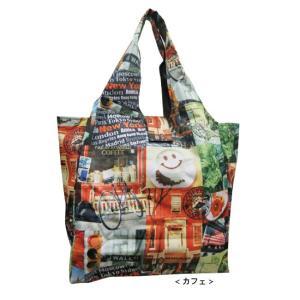 ショッピング バッグ バック カフェ柄 |gacha-com