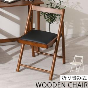 折りたたみチェア 折りたたみチェアー 椅子 イス 作業台 事務椅子 作業椅子 学習椅子 背もたれ シンプル 省スペース コンパクト 軽量 木製 おしゃれの写真
