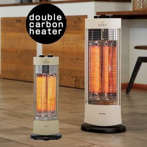電気ストーブ 小型 タイマー カーボンヒーター 冬物家電 遠赤外線 暖房器具 季節家電 デザイン家電