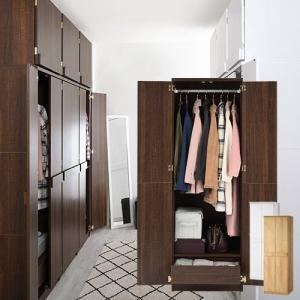 洋服ダンス クローゼット ワードローブ ロッカータンス カラー 安定感 サイズ 大きい おしゃれ 収納家具 人気 整理整頓の写真