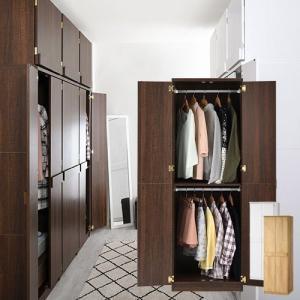 収納 家具 おすすめ 収納家具 クローゼット ワードローブ 木製 壁面収納 収納棚 扉 全身鏡