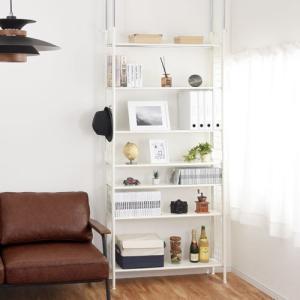お部屋のスペースを無駄なく有効活用できる収納棚。 天井高に合わせて最大約295cmまでつっぱり可能!...