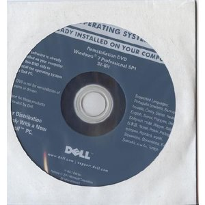 メール便送料無料 代引不可 DELL Reinstallation DVD Windows 7 Professional 32-Bit SP1